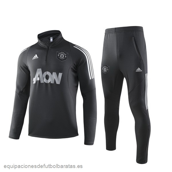 Chandal Manchester United 2019/20 Negro Gris Futbol Online