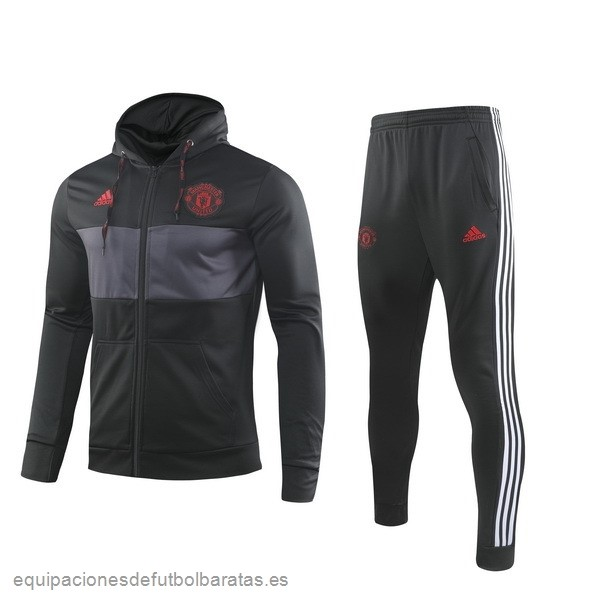 Chandal Manchester United 2019/20 Negro Gris Rojo Futbol Online